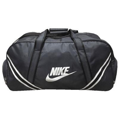 Сумка спортивная Nike с полосками средняя серая 56 см