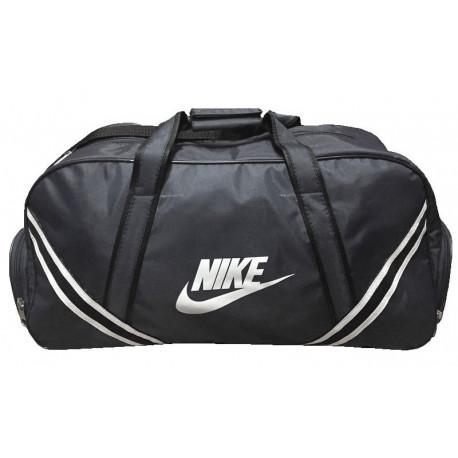 Сумка спортивная Nike с полосками малая серая 52 см