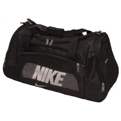 Сумка спортивная Nike со скошенными карманами средняя черная 56 см