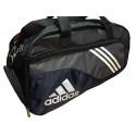 Сумка спортивная Adidas средняя черно-серая 56 см