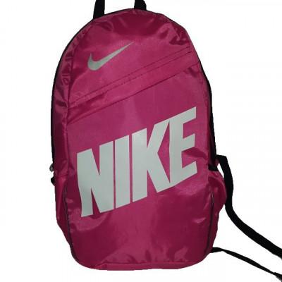 Рюкзак городской Nike (Найк) красный с белой надписью 40х27 см.