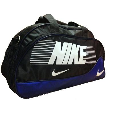 Сумка спортивная Nike овальная средняя черно-синяя 52 см