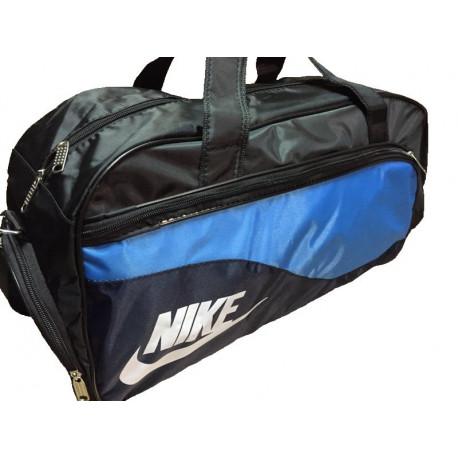 Сумка спортивная Nike средняя черно-голубая 56 см
