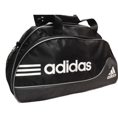 Сумка спортивная Adidas овальная средняя черно-серая 52 см