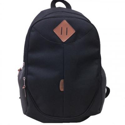 Рюкзак спортивный c ромбом на 2 отдела черный 42х30 см.