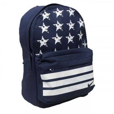 Рюкзак спортивный Nike (Найк) темно-синий со звездами 40х30 см.