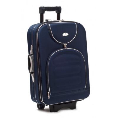 Чемодан Suitcase большой темно-синий тканевый 70 см