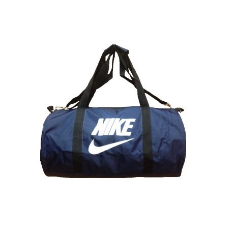 Сумка спортивная Nike круглая малая темно-синяя 45 см