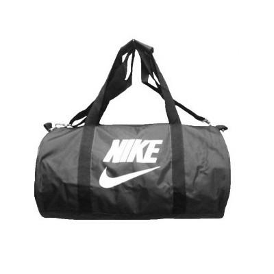 Сумка спортивная Nike круглая малая серая 45 см