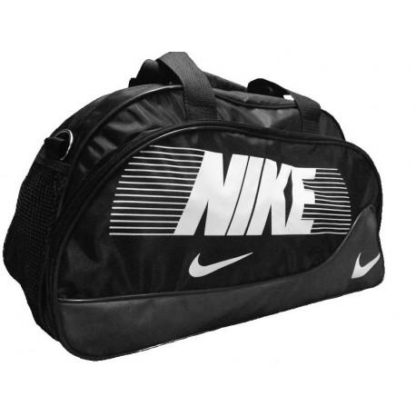 Сумка спортивная Nike овальная средняя черно-серая 52 см