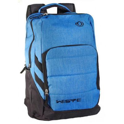 Рюкзак спортивный Wispe 45х30 черно-голубой