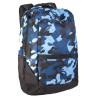 Рюкзак спортивный Wispe 45х30 черно-синий камуфляж