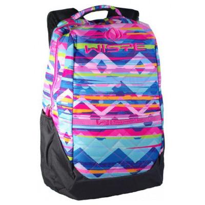 Рюкзак спортивный Wispe 45х30 черно-разноцвет узор
