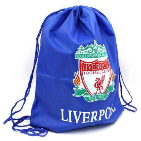 Рюкзак-мешок для обуви на затяжках LIVERPOOL 34х43 синий