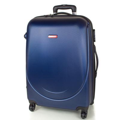 Чемодан Gravitt средний синий с расширением пластиковый 60 см