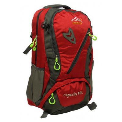 Рюкзак туристический 30 л TEYIHONG 52х32х17 серо-красный