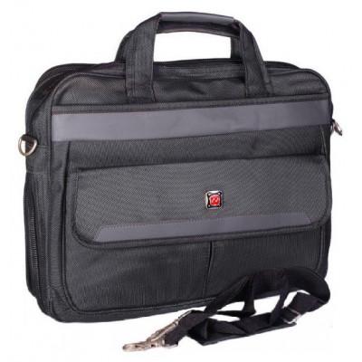 """Сумка для ноутбука 15,6"""" с расширением темно-серая S52002"""