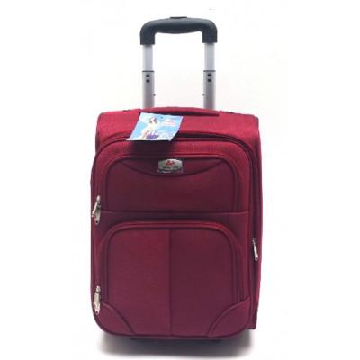 Чемодан тканевый EASY TRIP средний бордовый 60 см