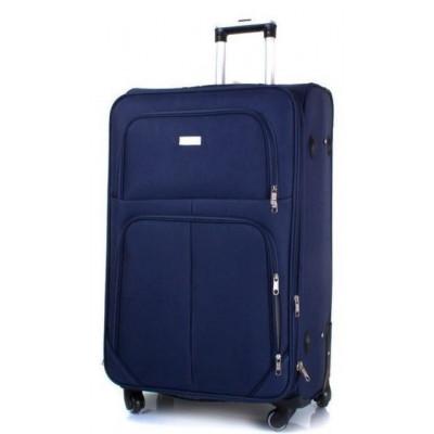 Чемодан тканевый JEMIS большой темно-синий 4 колеса 70 см