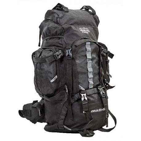 Рюкзак туристический каркасный COLOR LIFE 75 (65+10) литров нижний вход черный