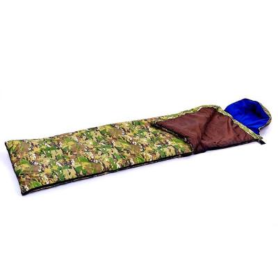 Спальный мешок одеяло с капюшоном камуфляж 300г/м2, 185+35х72см, t от 0 до +15