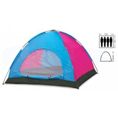 Палатка четырехместная 2.20 х 2,00 м красная T1SY013