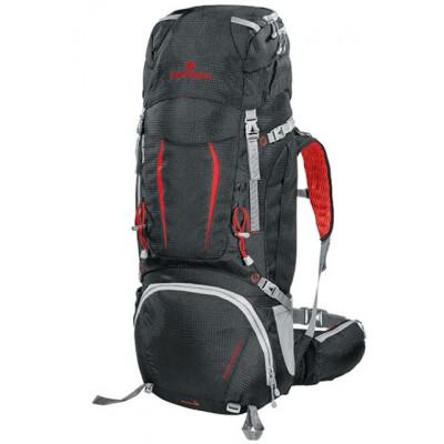 Рюкзак туристический Ferrino Overland 60 нижний вход черно-красный