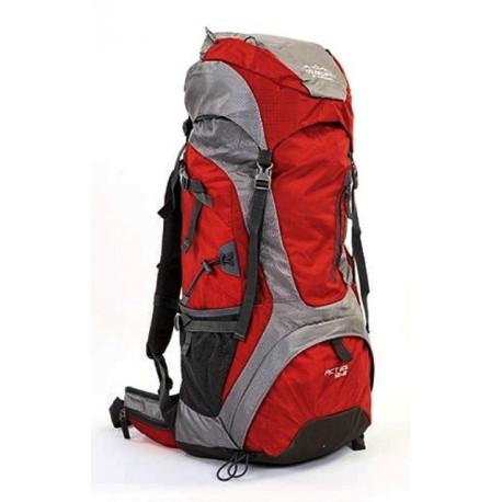 Рюкзак туристический каркасный COLOR LIFE 172 60л нижний вход бордовый