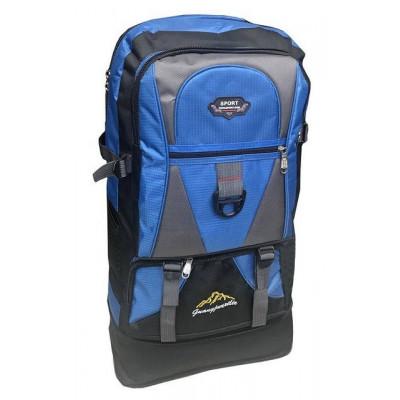 Рюкзак походный Sports 65х38х17 черно-синий