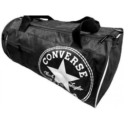 Сумка спортивная Converse круглая малая черная 45 см с карманом