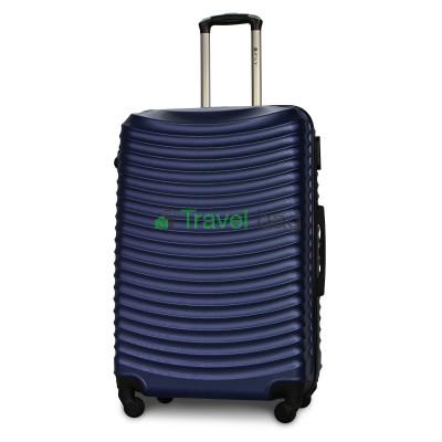 Чемодан пластиковый FLY 1053 большой темно-синий 75 см