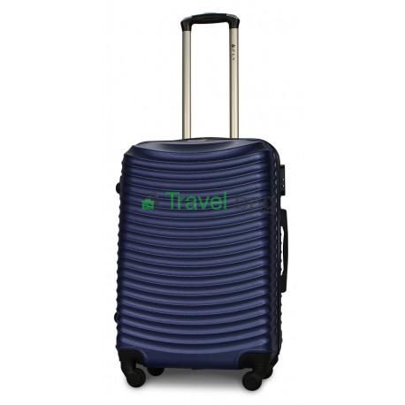 Чемодан пластиковый FLY 1053 средний темно-синий 65 см