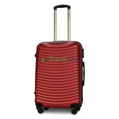 Чемодан пластиковый FLY 1053 средний красный 65 см
