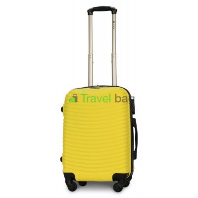 Чемодан пластиковый FLY 1053 маленький желтый 55 см