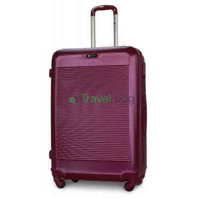 Чемодан пластиковый FLY 1093 большой темно-фиолетовый 75 см