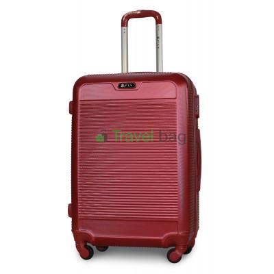 Чемодан пластиковый FLY 1093 средний бордовый 65 см