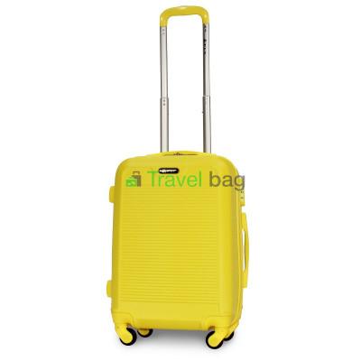 Чемодан пластиковый FLY 1093 маленький желтый 55 см