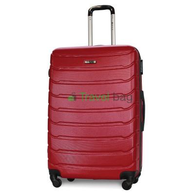 Чемодан FLY 1107 большой бордовый пластиковый 75 см