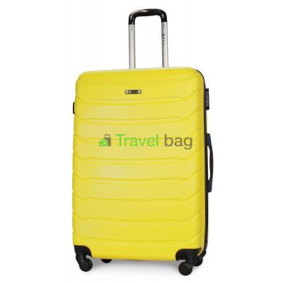 Чемодан пластиковый FLY 1107 большой желтый 75 см