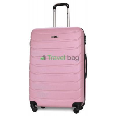 Чемодан пластиковый FLY 1107 большой розовый 75 см