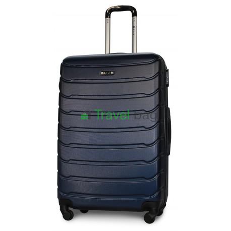 Чемодан пластиковый FLY 1107 большой темно-синий 75 см