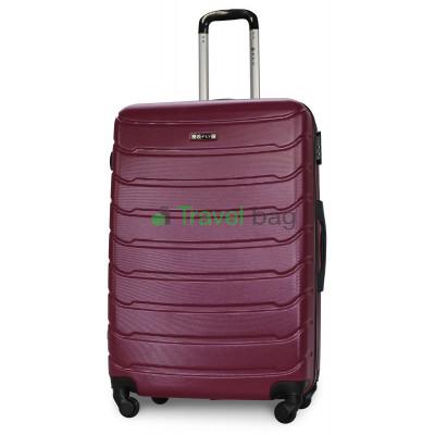 Чемодан пластиковый FLY 1107 большой темно-фиолетовый 75 см