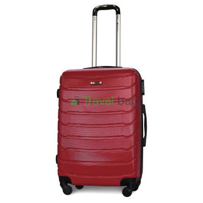 Чемодан FLY 1107 средний бордовый пластиковый 65 см