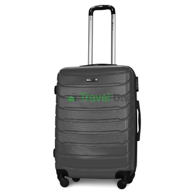 Чемодан пластиковый FLY 1107 средний графит (серый) 65 см