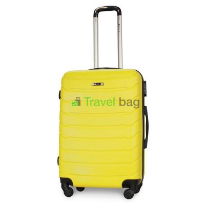 Чемодан пластиковый FLY 1107 средний желтый 65 см