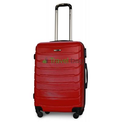 Чемодан пластиковый FLY 1107 средний красный 65 см