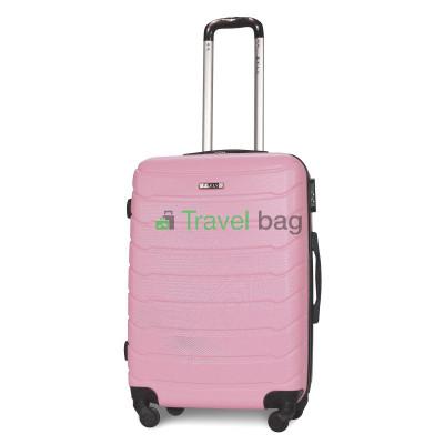 Чемодан пластиковый FLY 1107 средний розовый 65 см