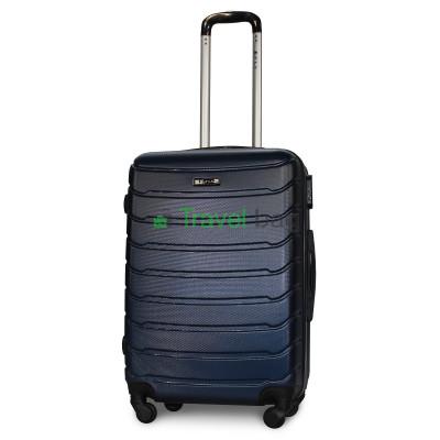 Чемодан пластиковый FLY 1107 средний темно-синий 65 см