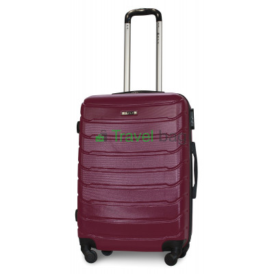 Чемодан пластиковый FLY 1107 средний темно-фиолетовый 65 см