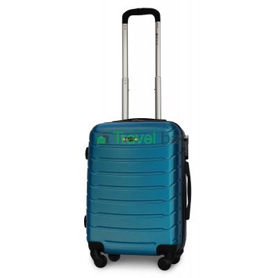 Чемодан пластиковый FLY 1107 маленький синий 55 см